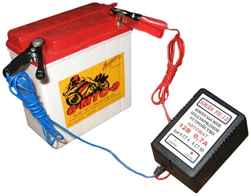 запуск генератора с помощью аккумулятора