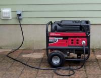 Прокладка питающего кабеля от генератора к дому